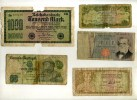 LOT DE 8 BILLETS D´EUROPE TRES ABIMES . - Münzen & Banknoten