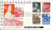 1964, FDC, Paul VI., Minr. 442-445  Gest. - FDC
