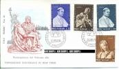 1964, FDC, Weltausstellung N.Y.., Minr. 450-453  Gest. - FDC