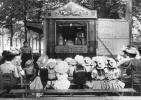 Belle Repro De Cpa Théâtre De Guignol à  PARIS 1900, Enfants Chapeautés(4.9) - Spectacle
