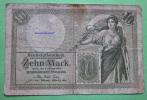 GERMANY KAISERREICH 10 Mark 6.10.1906 Reichskassenschein  Papermoney. - [ 2] 1871-1918 : Duitse Rijk