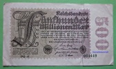 Banknote Geldschein 500 Millionen Mark 1923 Reichsbank GERMANY Papermoney. - 1918-1933: Weimarer Republik