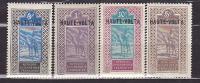 Zegels Afrique Occidentale Française Met Opdruk HAUTE VOLTA (zwart)-4 Zegels - Haute-Volta (1958-1984)
