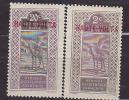 Zegels Afrique Occidentale Française Met Opdruk HAUTE VOLTA (rood)-2 Zegels - Haute-Volta (1958-1984)