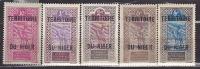 "Zegel Afrique Occidentale Française -Met Opdruk ""Territoire Du Niger""- 5 Zegels - Niger (1960-...)"