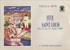 PROGRAMME FETE DE LA SAINT-LOUIS 1985 - VILLE DE SETE - HERAULT ( CETTE - Déssin: G.M. DUPUY ) - Sete (Cette)