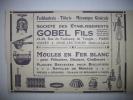 - Pub - Publicité - Ferblanterie - Tôlerie - Gobels Fils - Joué Lès Tours  ( Indre Et Loire )-  1923  - - Publicités