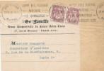 103/19 - FRANCE Devant D' IMPRIME TP Blanc Paire Du 2 C LYON 1926 - La Famille -Cours St Louis PARIS - 1900-29 Blanc