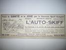- Pub - Publicité - Voiturette - L' Auto Skiff   -  1923  - - Publicités
