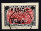 A1223) Dt. Besetzung Belgien Belgium 6 F. 25 Cent Mi.25I Auf Briefstück - Besetzungen 1914-18