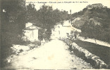 PORTUGAL - SANTAREM -ESTRADA PARA A ESTACAO DOS CAMINHOS DE FERRO - 1915 PC - Santarem