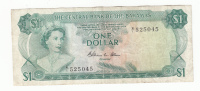Bahamas 1 Dollar 1974 VF Crisp Banknote P 35b 35 B - Bahamas