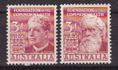 Foundation Of The Commonwealth- 2 Zegels. - Australie