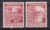 Foundation Of The Commonwealth- 2 Zegels. - Australia