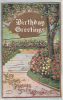 Birthday Greetings May Roses Always Strew Your Path - Embossed Rose-lined Path - Birthday