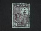 Maleisië Malaya Malaysia Penang 1960 Armoiries Tigre Tijger Tigre Yv 54 O - Penang