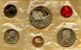 CANADA SERIE 6 MONETE 1965 ( 3 MONETE IN ARGENTO) - Canada