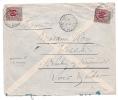 Lettre Avec  Timbres Type Groupe Cachet De Fianarantsoa Madagascar Pour St Lubin En Vergonois