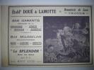 - Pub - Publicité - Ets Doué & Lamotte - Bonneterie De Luxe - Troyes - 1923 - ( Verso ) Vaporisateur - Kitzinger - - Publicités