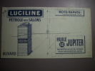 - Buvard - Pétrole Des Salons - LUCILINE - Moto Naphta - Huile Jupiter - - Hydrocarbures