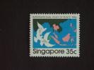 Singapore Singapour 1986 Année De La Paix Colombes Yv 506 MH * Crayon Sur Dos - Singapore (1959-...)