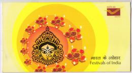Festivals Of India Presentation Pack, 1 Miniature + 1 FDC + 1 Broucher, Elephant, Music, Celebration, Mask, India 2008 - Other