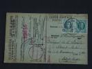 Carte Caisse De Retraite Ermeton-sur-Biert Vers Saint-Aubin 1925 Lijfrentekas Houyoux  (ref 181) - 1922-1927 Houyoux