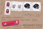 Egypt, Regis.cover 1997 TANTA To Argentina,mixced Frreanking Commemo+high Values Definit- Clear Cancela. Super - Egypt
