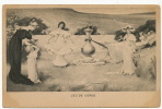 Jeu De Corde . Corde A Sauter . Belle Carte Dessin Avant 1903 Femmes Et Jeunes Filles - Cartes Postales