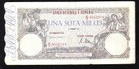 UNA SUTA MII LEI 21 OCT 1946 BILETE 100 000 LEI ROMANIA. - Roumanie