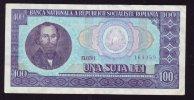 UNA SUTA  LEI  1966 BILETE 100 LEI ROMANIA. - Rumania