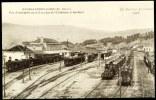 """CPA. LE CANTAL ILLUSTRÉ.  NEUSSARGUES GARE. Vue D'ensemble De La Gare Cies. D'Orléans Et Du Midi.  """" Trains """". - Otros Municipios"""