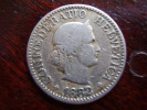 SWITZERLAND 1882B  TEN RAPPEN Copper-nickel USED COIN In FAIR CONDITION. - Suisse
