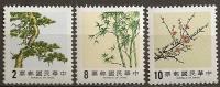 Formose - N°1536/38  Les Trois Amis Du Temps D´hiver - Taiwán (Formosa)