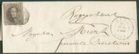 N°10 - Médaillon 10 Centimes Brun, Touché En Bas Mais 2 Voisins, Obl. P.134 S/L. De ZELE Le 30 Avril 1862 Vers Buggenhou - 1858-1862 Médaillons (9/12)