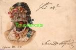 VINTAGE LITHO CARD BLACK AMERICANA NEGRO WOMAN 1900 ** CPA LITHO PRECURSEUR  FEMME NOIR NEGRE 1900 WEZEL & NAUMANN - Ethniques & Cultures