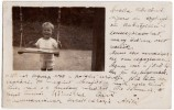 P CHILDREN LITTLE BOY WITH SWINGS  OLD POSTCARD 1926. - Children