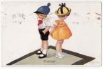 P CHILDREN BOY AND A GIRL Nr. 141/1352  OLD POSTCARD - Children