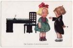 P CHILDREN BOY TEACHING A GIRL NEUE MEISTER Nr. 474  OLD POSTCARD - Children