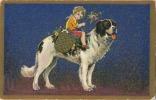 Saint Bernard :  Carte Fantesie  :  Illustrateur :   Degami - Chiens