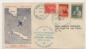 FDC 1er Jour Primer Vuelo Habana Nassau Abril 18, 1957, Viscount  Cubana De Aviacion - Cuba