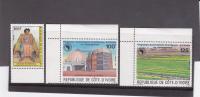 [F] 3 Timbres Stamps ** Côte D'Ivoire Ivory Coast 1985 - Côte D'Ivoire (1960-...)
