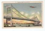 CPA -  New York : Troborough Bridge New York City ( Bateaux + Avins ) ( Plane + Boats ) - New York City