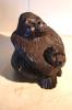 ART AFRICAIN ?? / GORILLE AVEC SON PETIT / BOIS SCULTER NOIRCI HT 18 CM - Art Africain
