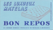 Buvard    Les Luxueux Matelas  Bon Repos  Matelat A Ressorts - Carte Assorbenti