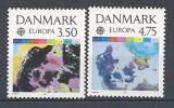"Danemark 1991 N°1004/1005  Neufs ** Europa ""espace"" - Danemark"