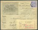 N°71 - 5 Centimes EXPO De BRUXELLES Obl. Sc BRUXELLES S/Enveloppe Illustrée (Papier Stencil BLAISDELL William Ward) Du 7 - 1894-1896 Expositions