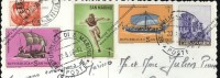 5 Timbres SAN MARINO Sur Cp Cartolina 1966 Olympic Game Tokyo 1964 Nave Boat Bateaux - San Marino