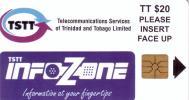TRINITE ET TOBAGO INFOZONE TSTT 20$ NEUVE MINT NUMEROTEE RARE - Trinité & Tobago