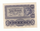 Austria 10 Kronen 1922 UNC CRISP Banknote P 75 - Oesterreich